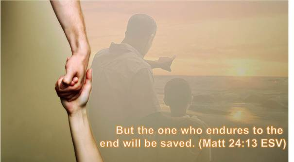 But the one who endures