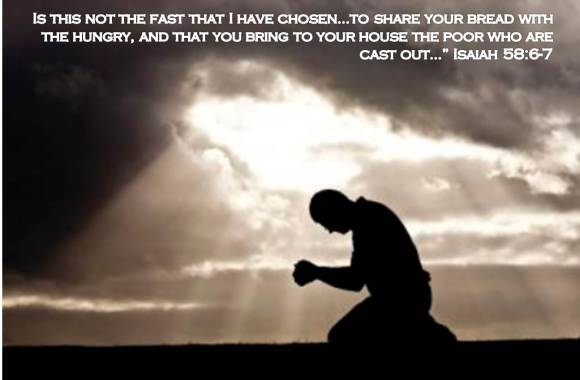 fasting and praying on knees