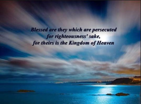 persecuted for righteousness