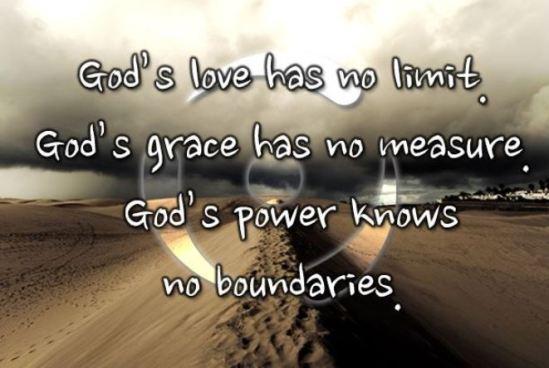 God's love has no limit